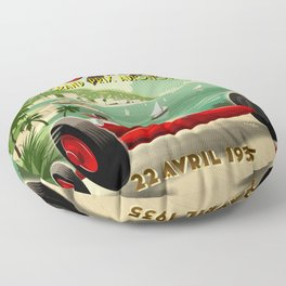 1930's Monaco Grand Prix Poster Floor Pillow