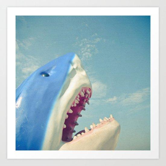 Shark! Art Print