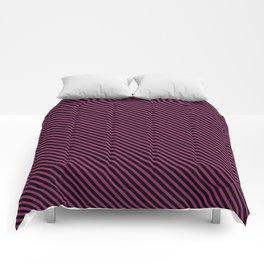 Festival Fuchsia and Black Stripe Comforters