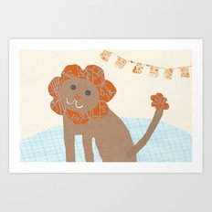 lion collage Art Print