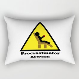 Procrastinator at Work Rectangular Pillow