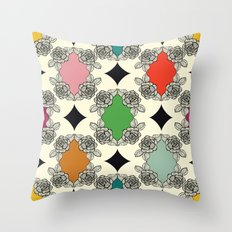 Moroccan Rose Motif Throw Pillow