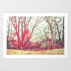 Ruby Winter Art Print