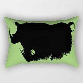 Rhino Horns Rectangular Pillow