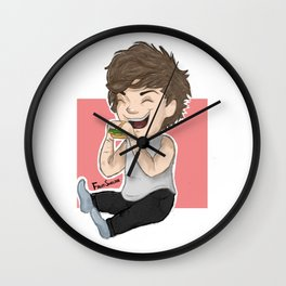 Louis with the cheeseburger Wall Clock