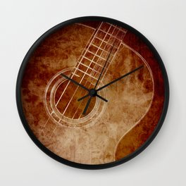 The Color of Music - Guitar Wall Clock