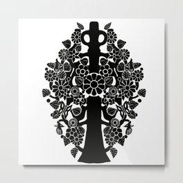 Life tree black Metal Print