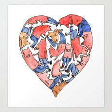 Pray with love Art Print