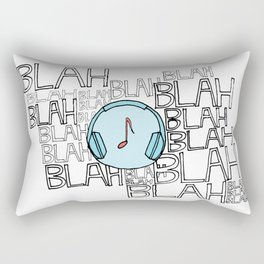 The power of music to cut through the noise Rectangular Pillow