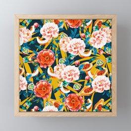 Flowery tropical 02 Framed Mini Art Print