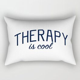 Therapy is Cool - for Mental Health Awareness Rectangular Pillow