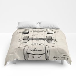 Weight Lifting Patent - Dumb Bell Art - Antique Comforters