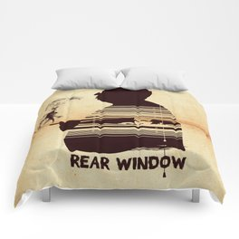 Rear Window Hitchcock silhouette art Comforters