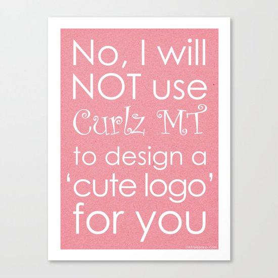 Curlz Hate Canvas Print