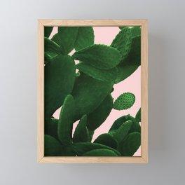 Cactus On Pink Framed Mini Art Print