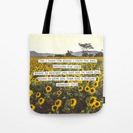 Jeremiah Sunflowers Tote Bag