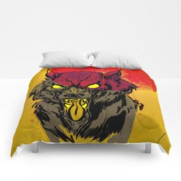 Red Moon Rising Comforters
