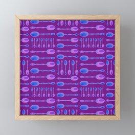 Unique Artsy Spoons! (Bright Purple) Framed Mini Art Print
