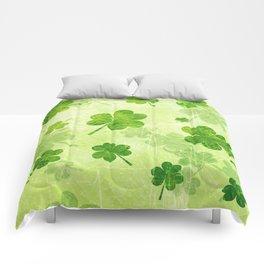Green Shamrocks Comforters
