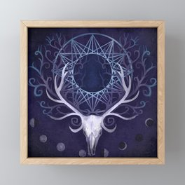 Season Of The Moon's Winter Fire Framed Mini Art Print