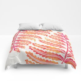 Fern Leaf – Peachy Pink Palette Comforters
