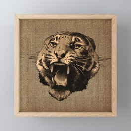 Vintage Tiger Framed Mini Art Print