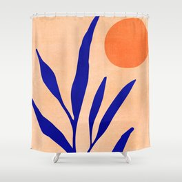 Golden Afternoon II / Abstract Landscape Shower Curtain