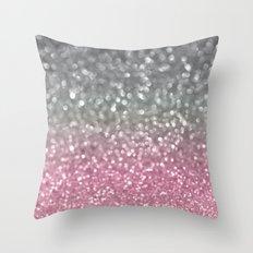 Gray and Light Pink Throw Pillow