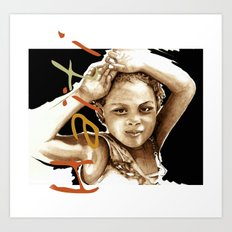 The Children Of Haiti Art Print