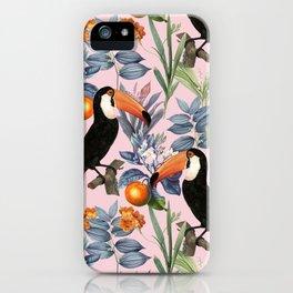Tucan Garden #pattern #illustration iPhone Case
