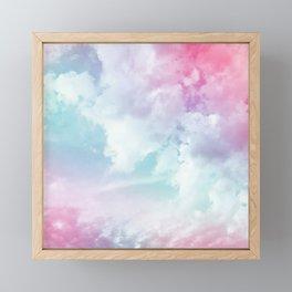 Cotton Candy Sky Framed Mini Art Print