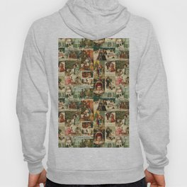 Vintage Victorian Christmas Collage Hoody