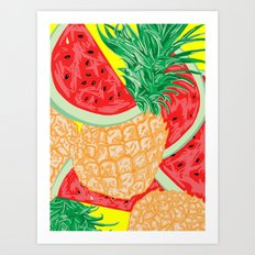 Watermelon and Pineapple, 2013. Art Print