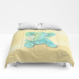 Cute elephant and mouse Comforters
