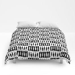 IBO FISH BLACK AND WHITE Comforters