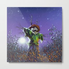 The Scarecrow Walks at Midnight Metal Print