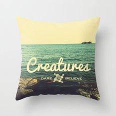 Creatures dare 2 believe - Swedish summer Throw Pillow
