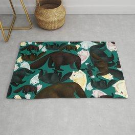 Marten tropical pattern Rug