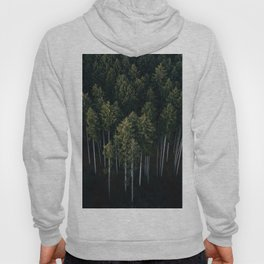 Aerial Photograph of a pine forest in Germany - Landscape Photography Hoody