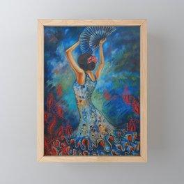 Flamenco dancer Framed Mini Art Print