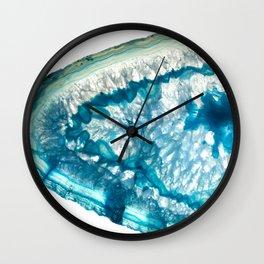 Whale agate slice Wall Clock