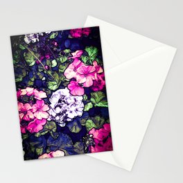 Pink Geraniums, Goddess Energy Stationery Cards