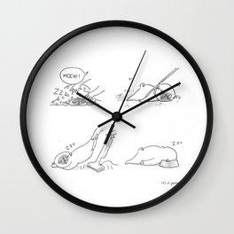 Sleepy Puggy Wall Clock
