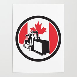 Canadian Logistics Canada Flag icon Poster