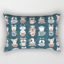 Doggie Coffee and Tea Time II Rectangular Pillow