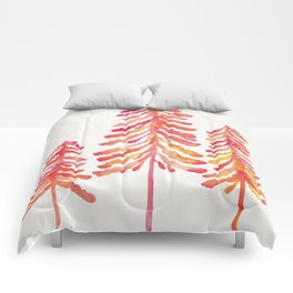 Pine Trees – Pink & Peach Ombré Comforters