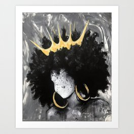 Naturally Queen III Art Print