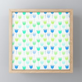 Pretty Plain Foral Pattern Framed Mini Art Print