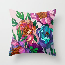 Floral Lines 1 Throw Pillow