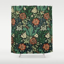 William Morris Compton Floral Art Nouveau Pattern Shower Curtain